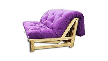 Sofá cama A-Frame, futón morado, 140x105x30 cm