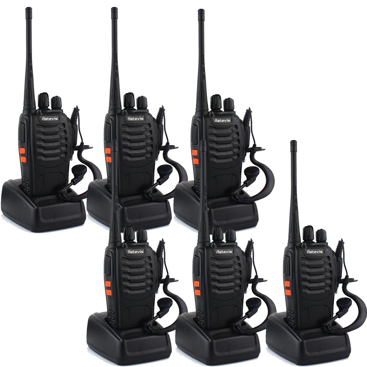 Retevis H-777 Two-Way Radio 3W Signal Band UHF 400-470MHz (Pack of 6)