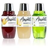 Amoretti Premium Martini Cocktail Mix Classic Minis, 3.4 fl oz, 3-Count (Cosmopolitan, Lemon Drop and Sour Apple)