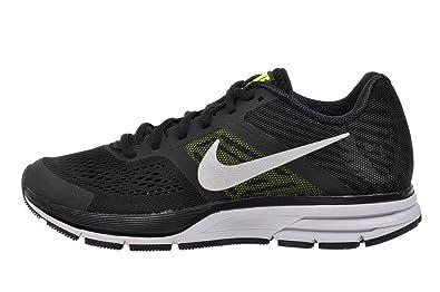 nike air pegasus+ 30 mens running trainers 599205 sneakers shoes (uk 9.5 us 10.5 eu 44.5, black metallic silver volt 070)