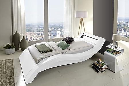 Design Premiumbett 90 x 200cm weiß LED
