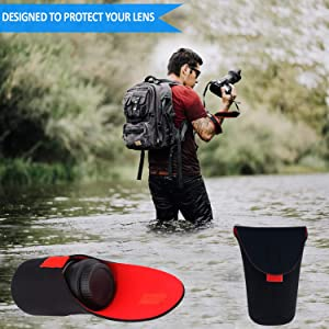 Soft Neoprene Camera Lens Case to Protect Your Camera Equipment Size X-Large