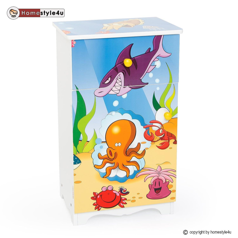 Homestyle4u Kinderkommode Kinderschrank Kinder Schrank Regal Kommode Schubladen günstig bestellen