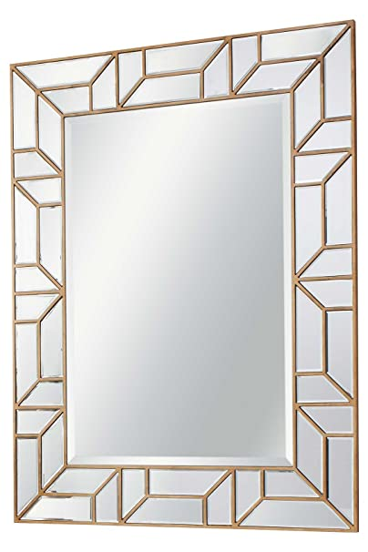 Large Venetian and Gold Verbier Style Mirror 3ft5 x 2ft7 (105cm x 80cm)