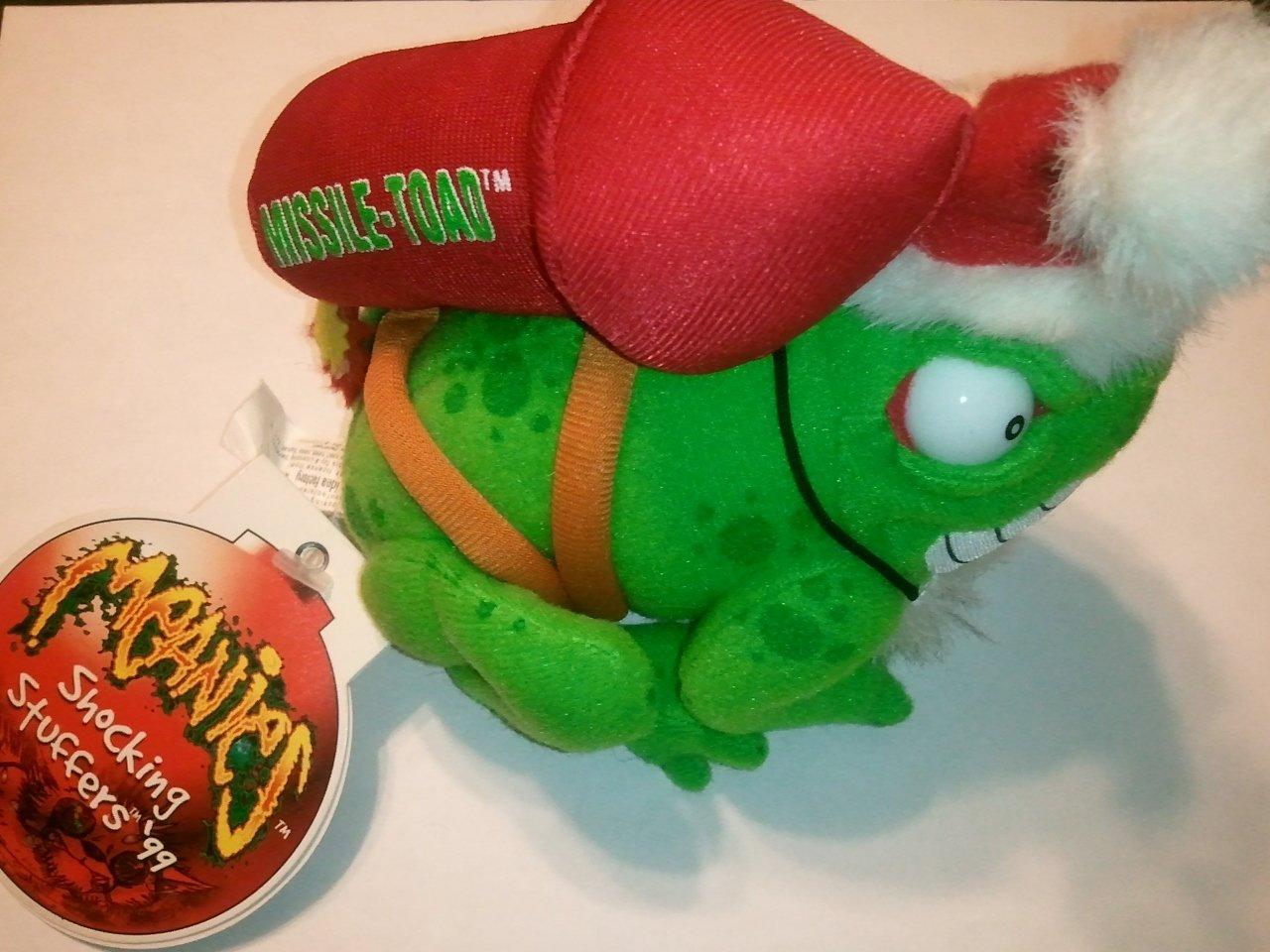 Holiday Meanies Shocking Stuffers Missile Toad *Mistletoe*