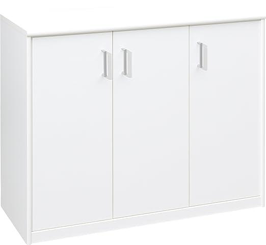 CS Schmalmöbel 12/131 Kommode - Mehrzweckschrank 131 Soft Plus, 106 x 84 x 45 cm, cremeweiß