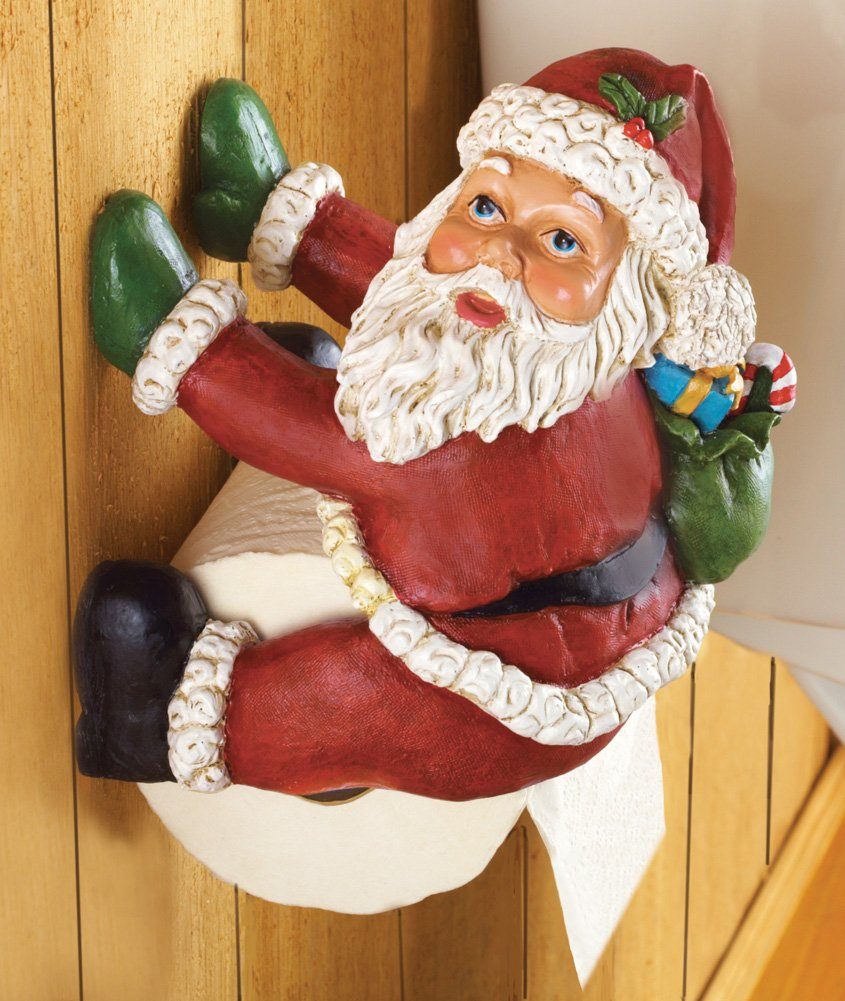 Christmas Santa Toilet Paper Holder