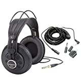 Samson SR850 Studio Reference Headphones + Headphone Extension Cord with Adapters