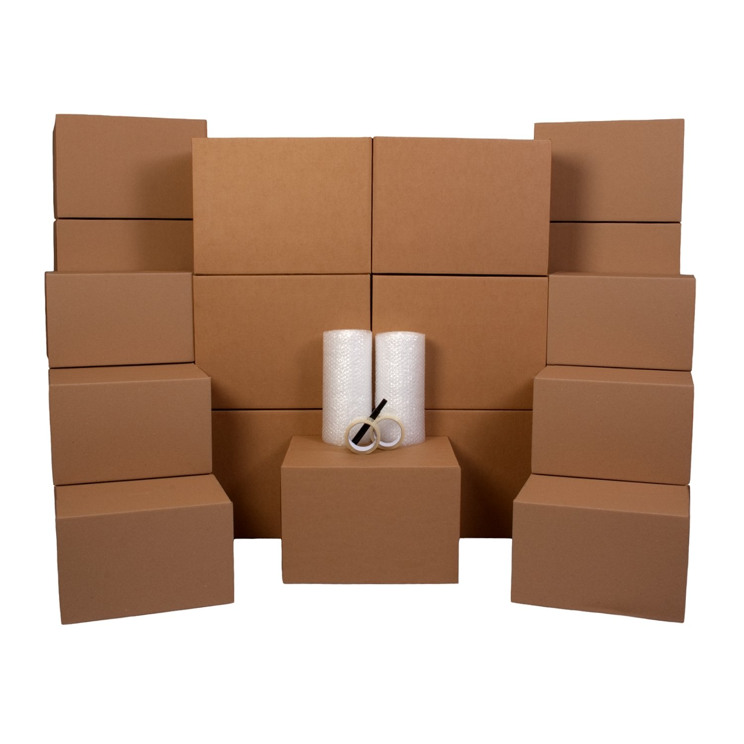 1-2 Room Moving Kit - 27 Moving Boxes & Supplies: