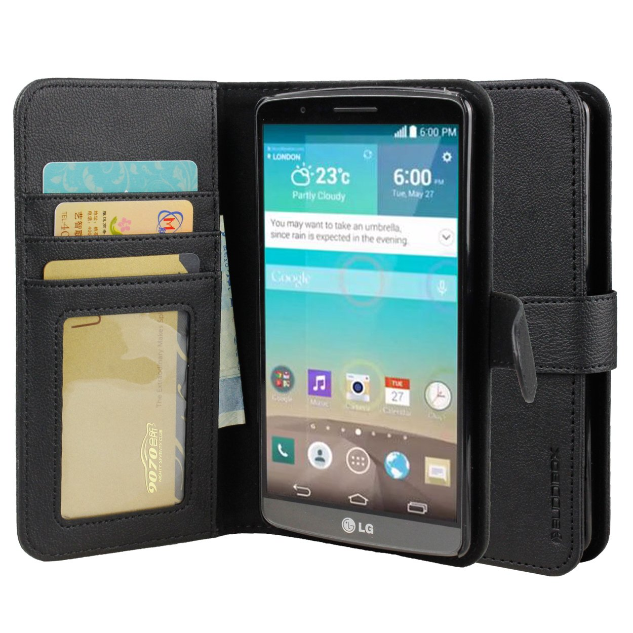 LG G4 Case Leather Wallet Case