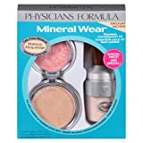 Physicians Formula Mineral Wear Flawless Complexion Kit, Medium Pressed Powder 0.3 oz., Matte Finishing Veil 0.58 Ounce and Pressed Blush: 0.19 oz. (Color: Medium)