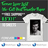 Forever Laser Light (No-Cut) Heat Transfer Paper 8.5
