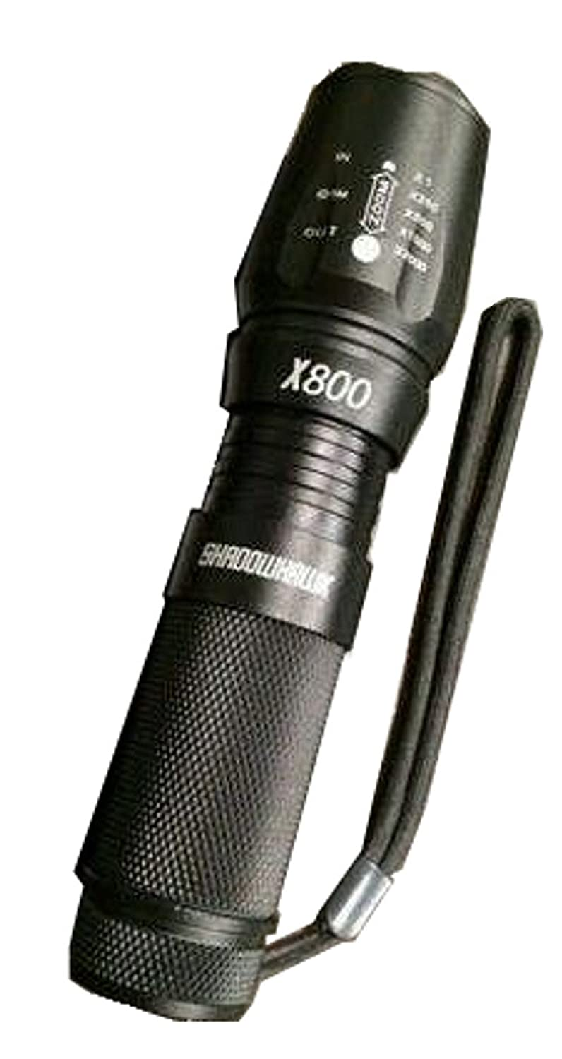ShadowHawk X800 High Tactical Flashlight 800 Lumens x2000 With Case
