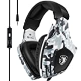 Gaming Headset for Xbox One, PS4, SADES Stereo PC Gaming Headset with Mic, Noise Cancelling Over Ear Gaming Headphones with Soft Memory Earmuffs for Laptop Mac Nintendo Switch Games (Color: G618 Gaming Headset)
