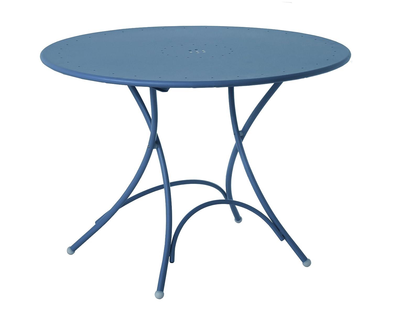 Emu 309046100N Pigalle Klapptisch 904, ø 105 cm, pulverbeschichteter Stahl, petrolblau bestellen