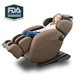 Full-Body Zero Gravity Space Saving L-Track Kahuna Massage Chair Recliner LM6800