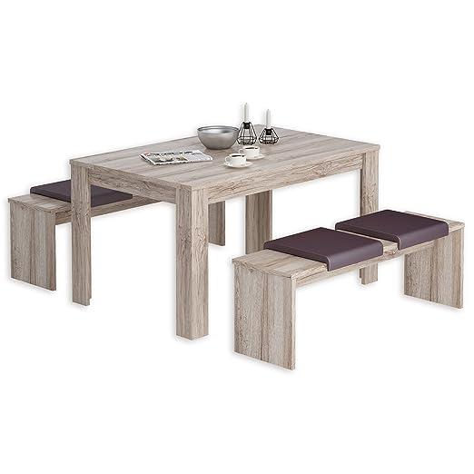 ROLLER 3-teilige Tischgruppe DIJON - Sandeiche