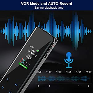 Digital Voice Recorder, MGLIMZ 16GB Touch Screen Voice Activated Recorder for Lectures/Meetings/Class, Stereo HD Audio Sound Recording Device with Dual Microphones,Mini Rechargeable Dictaphone