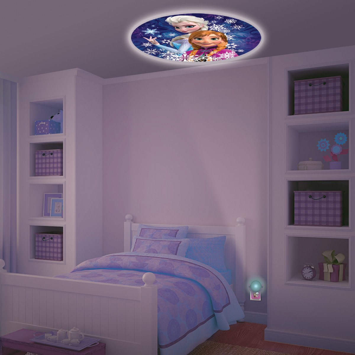 projector night lights disney frozen led kids boys girls bedroom wall ceiling ebay. Black Bedroom Furniture Sets. Home Design Ideas