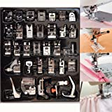 YEQIN 32 PCS Domestic Sewing Foot Presser Feet Set for Singer, Brother, Janome,Kenmore, Babylock,Elna,Toyota,New Home,Simplicity and Low Shank Sewing Machines (Tamaño: 32 PCS)