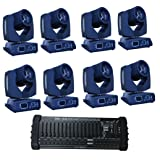 Eshine 8Pic/lot with DMX 384 Controller 16/20 Channels Touch Screen 7R Sharpy Beam 230W Moving Head Light stage Lighting For Wedding Christmas Birthday DJ Disco KTV Bar Event Party Show (Color: Black)
