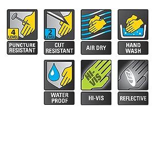 Ringers Gloves R-327 Extrication Barrier1, Heavy Duty Extrication Gloves, Medium (Color: Hi-Vis, Tamaño: Medium)