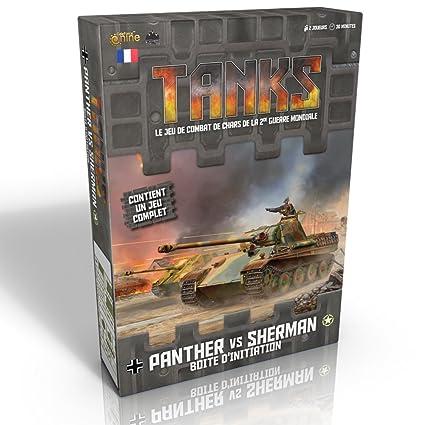 Tanks - Panther vs Sherman - Boite d'initiation - Jeu de guerre en français pour 2 joueurs