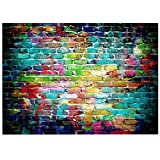 ANVOT Photography Backdrop, 7x5 ft Colorful Brick Wall Backdrop For Studio Props Photo Backdrop (Color: Colorful Brick Wall)