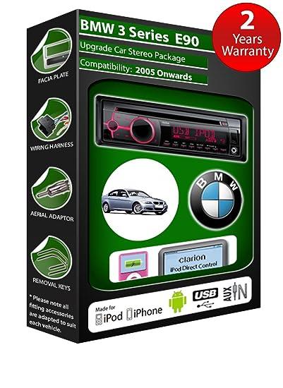 BMW série 3 E90 de lecteur CD et stéréo de voiture radio Clarion jeu USB pour iPod, iPhone, Android