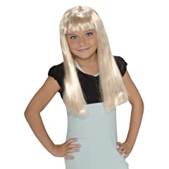 ChildS Rock Star Long Blonde Wig