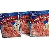 Pillsbury Strawberry Moist Supreme Cake Mix (3pk) (Tamaño: 3 Ounces)