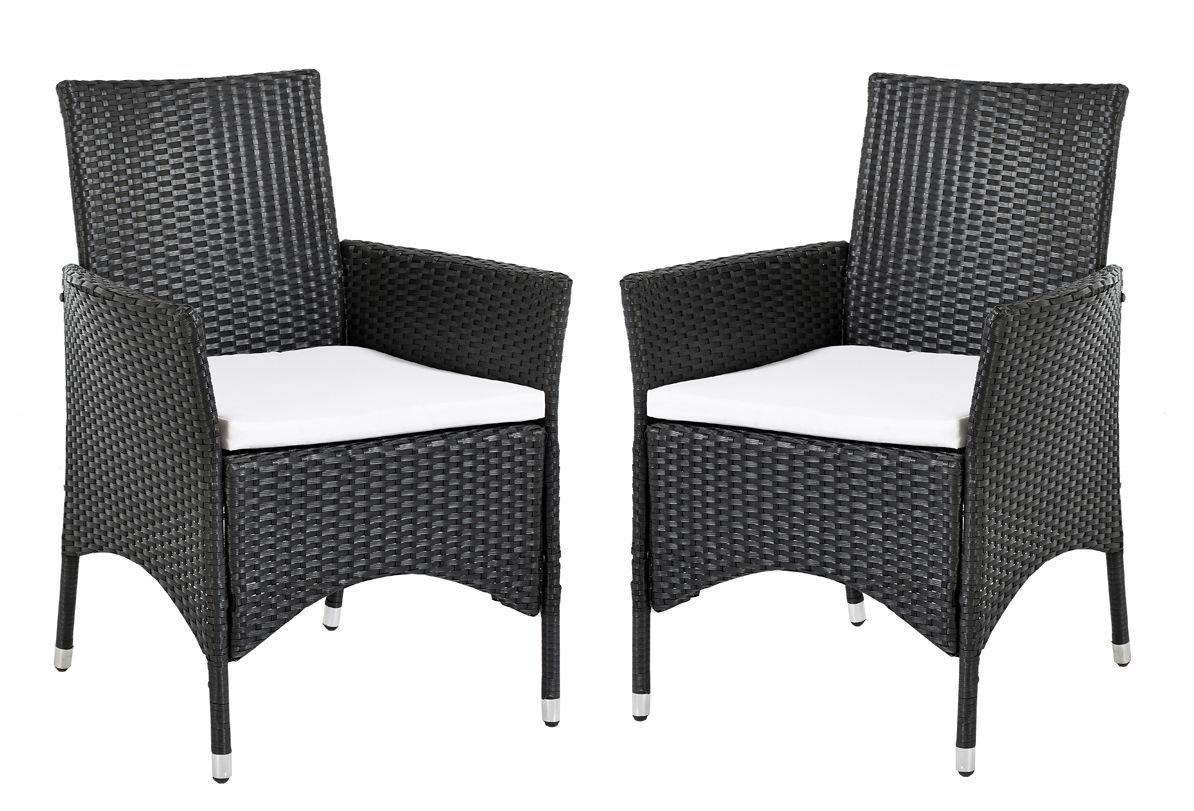 Ambientehome Polyrattan Sessel Stuhl Lubango, schwarz, 2-teiliges Set kaufen