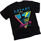 Batman: The Animated Series Gotham City, Adult T-Shirt, X-Large (Color: Black, Tamaño: X-Large)
