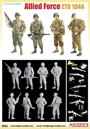 Dragon - D6653 - Maquette - Soldats Allies Europe 1944 - Echelle 1:35