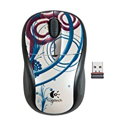 Logitech M305 Wireless Mouse - Ice Droplets