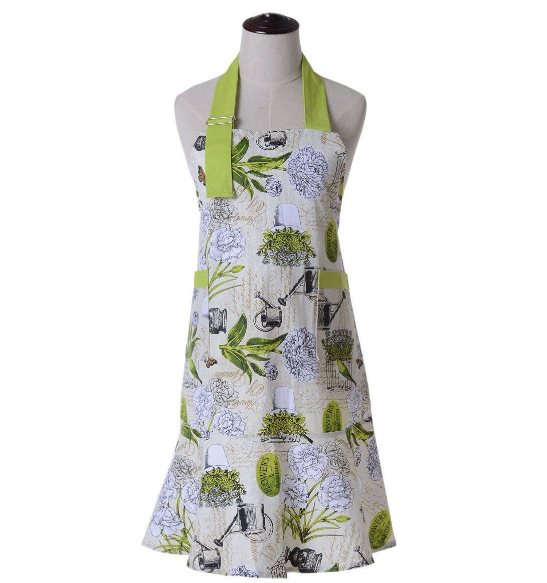 Housewife Vintage Bib Anthropologie Grilling Chef Girl Postoral Style Kitchen Cooking Aprons for Women, Perfect for Gift 0