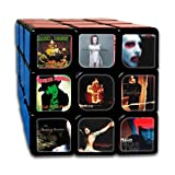 JENNASTOLZZ Unisex Marilyn Manson Cool Smooth Music Band Print with Vivid Colors 3x3 Rubik Cube Gift (Color: Marilyn Manson 13)