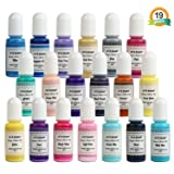LET'S RESIN 19 Colors Alcohol Ink Set Macaroon Colors Alcohol-Based Ink, Each 0.35oz, Great for Resin Petri Dish Making, Epoxy Resin