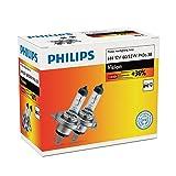 PHILIPS H4 12V 60/55W P43t-38 Vision Car Headlight Bulbs 30% More Light 12342PRC2 Twin (Color: White, Tamaño: H7)