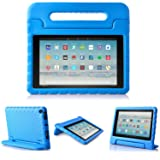 2017 All-New Fire HD 10 Case - LTROP Portable Shock Proof Fire HD 10 Tablet Case for Kids (7th Generation, 2017 Release) - Blue (Color: Amazon Fire HD 10 Case (10