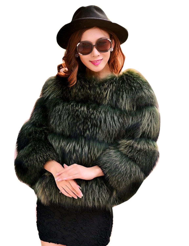 YR.Lover Mode Damen wirklich Waschbär Pelz kurz Mantel&Jacke günstig online kaufen