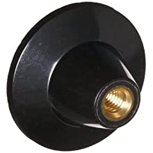 "DimcoGray Black Phenolic Push-Pull Knob Female, Brass Insert: 5/16-18"" Thread x 7/16"" Depth, 1-13/16"" Diameter x 1-3/16"" Height x 5/8"" Hub Dia x 7/8"" Hub Length (Pack of 10)"
