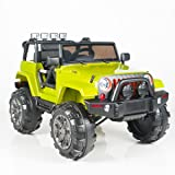 12V MP3 Kids Ride on Jeep Car R/C Remote Control, Lights Radio and Tunes - Green (Color: Green)