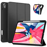 Ztotop Case for iPad Pro 12.9 Inch 2018, Full Body Protective Rugged Shockproof Case with iPad Pencil Holder, Auto Sleep/Wake, Support iPad Pencil Charging for iPad Pro 12.9 Inch 3rd Gen - Black (Color: Black Case for 2018 iPad Pro 12.9 3rd Gen)