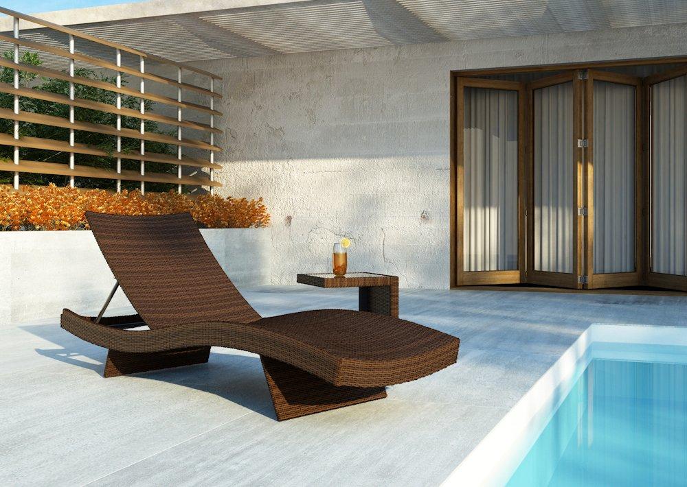 icasa polyrattan gartenm bel sonnenliege mara braun romeo beistellisch online kaufen. Black Bedroom Furniture Sets. Home Design Ideas