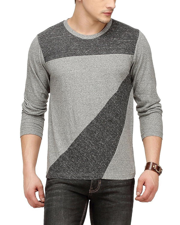 Shirt design on sleeve - Campus Sutra Men Front Design Full Sleeve T Shirt