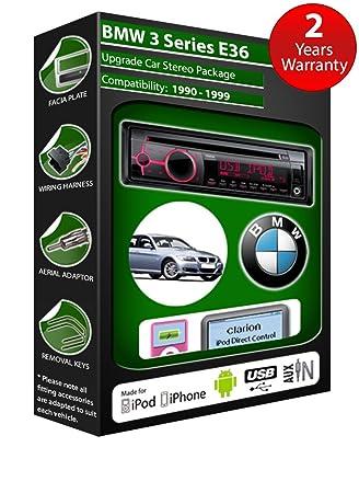 BMW 3 Series E36 de lecteur CD et stéréo de voiture radio Clarion jeu USB pour iPod, iPhone, Android