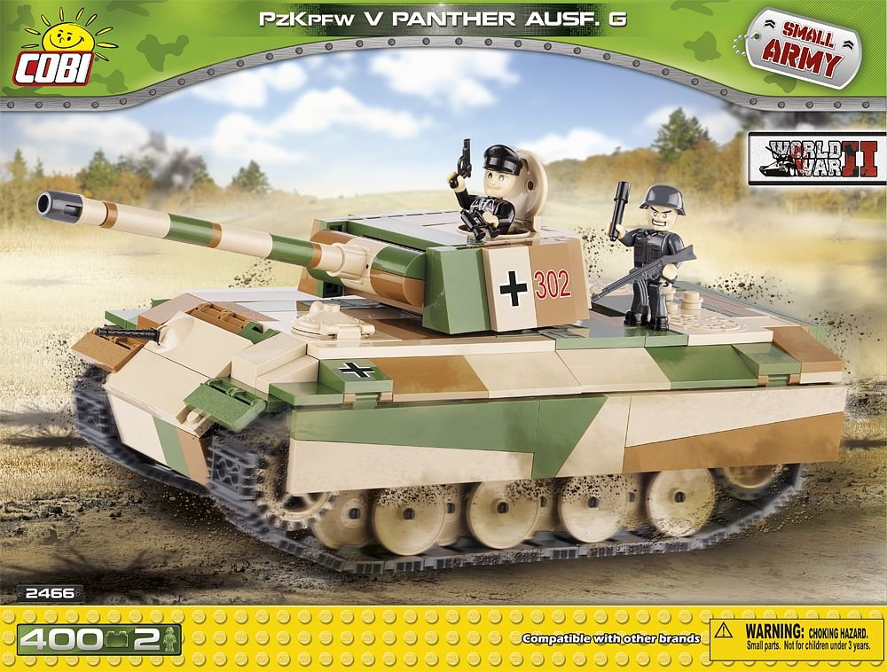 COBI 2466 – Small Army WWII Panzerkampfwagen V Panther Ausf. G – 400 Bausteine als Geschenk