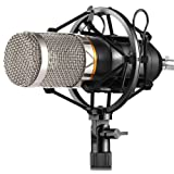 ZINGYOU BM-800 Condenser Microphone, Cardioid Studio Recording Microphone with Shock Mount, XLR Cable