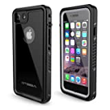 OTBBA Phone 7/8 Waterproof Case,IP68 Certified Waterproof Shockproof Snowproof Dirtproof Full Body Protective Underwater Case Compatible for 7/8 (Black) (Color: Black)